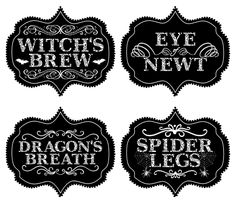 MyImaJENNation: Printable Halloween Labels