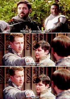 """David, Mary Margaret, King Arthur,and Lancelot - 5 * 4 """"Broken Kingdom"""" #Snowing"""