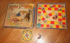 1893 Antique Board Game - Rival Doctors - McLoughlin Brothers