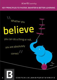 """""""B"""" Stands for Believe! #goal #learn"""