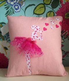 Ballerina ballet dancer cushion by TLBcrafthouse on Etsy Ballet Crafts, Dance Crafts, Cute Pillows, Baby Pillows, Throw Pillows, Sewing Crafts, Sewing Projects, Projects To Try, Diy And Crafts