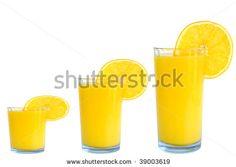 orange juice small medium large size by Nick Barounis, via ShutterStock Orange Juice, Promotion, Photo Editing, Foods, Stock Photos, Snacks, Marketing, Drinks, Medium