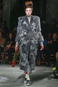 The Thom Browne Fall 2013 Collection Empowers With Exaggeration #Gray #Fashion