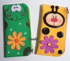 Cartucheras Foam Crafts, Arts And Crafts, Felt Purse, Paper Piecing, Cell Phone Cases, Scrapbook Paper, Hand Embroidery, Baby Shower, Pattern