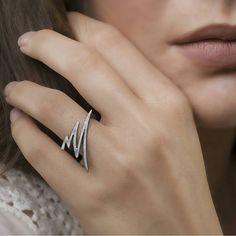 Ελάχιστη Ring, 925 ασημένιο δαχτυλίδι, Σύγχρονου Κοσμήματος, Σύγχρονη Ring, υφή δαχτυλίδι, 18 καράτια χρυσό επιμεταλλωμένα