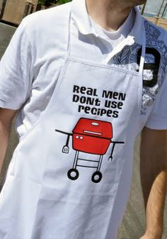 Silhouette America Blog | Another fun Father's Day gift idea - diy grill apron for Dad!