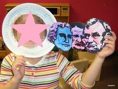 President's Day Craft for Kids - Mount Rushmore. The pink star could indicate that your child is the next president! hee K