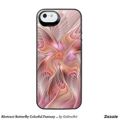 Abstract Butterfly Colorful Fantasy Fractal Art iPhone SE/5/5s Battery Case