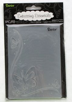 Darice Butterfly Corner New A2 Embossing Folder by catSCRAPPIN