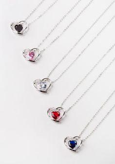 3.5-Carat Simulated Diamond Heart Necklace