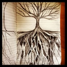 Page from my journal. Working on roots. By Erin Rutz