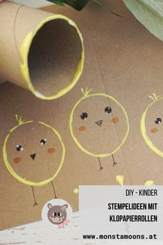 Stempelideen mit Klopapierrollen Stamp ideas with toilet paper rolls # toilet paper roll Preschool Crafts, Easter Crafts, Diy And Crafts, Craft Projects, Crafts For Kids, Arts And Crafts, Bunny Crafts, Christmas Crafts, Craft Ideas