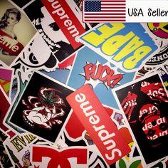 100 Skateboard Longboard Vintage Vinyl Sticker Laptop Luggage Car Decals Lot $29.99