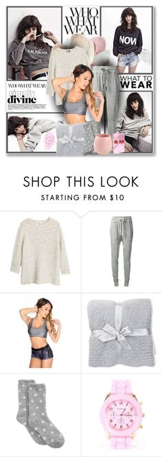 """""""What to Wear: Netflix Binge"""" by sweetsely ❤ liked on Polyvore featuring Modo, MANGO, James Perse, Barefoot Dreams, Charter Club and WhatToWear"""