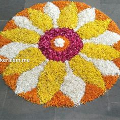 Easy Rangoli Patterns, Rangoli Designs Flower, Rangoli Designs Diwali, Diwali Rangoli, Flower Rangoli, Kolam Designs, Art Drawings Sketches Simple, Easy Drawings, Onam Pookalam Design