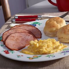 Buttermilk biscuits are a staple of a good southern meal. Enjoy them as part of a traditional country breakfast with eggs and country ham. It's sure to hit the spot in the morning.