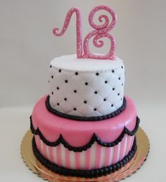 18th #Birthdaycaketoppers  with pink color and different pattern...