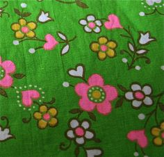 1960s cotton fabric My favorite pick for the dress my daughter is going to make me!