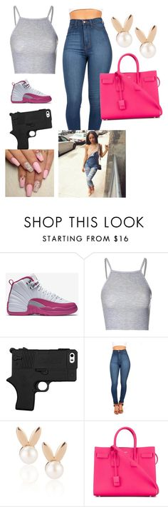"""""""Birthday in 3 more days//Turn up"""" by trillparadise on Polyvore featuring NIKE, Glamorous, Aamaya by priyanka and Yves Saint Laurent"""