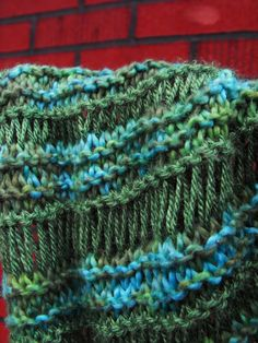 close knit: Athabasca Spring Scarf Knitting Pattern