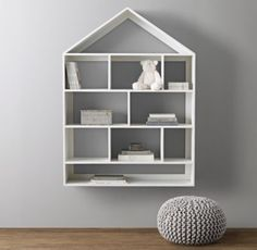 RH baby&child's Grand House Shelving Large:Everything from books to collectibles will feel at right at home in our house-shaped shelving. Grandly sized and constructed of wood, it acts as a playful element of décor while serving a practical purpose in the room.