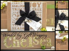 #Cricut Holiday Wrapping