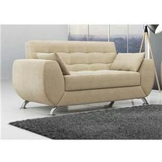 Sofa bege  3 lugares lindo
