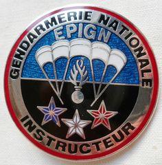 Insigne Gendarmerie OBSOLETE EPIGN PARACHUTISTE CHUTEUR OPERATIONNEL INSTRUCTEUR