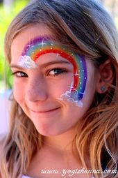 Easy halloween face painting ideas for cheeks can help you in adding so much fun to any party. Face painting is a very good as well as fun way Face Painting Unicorn, Girl Face Painting, Face Painting Tips, Face Painting Tutorials, Belly Painting, Kids Face Painting Easy, Face Painting Images, Face Images, Face Paintings