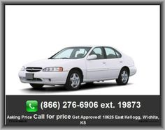 2001 Nissan Altima GLE Sedan  Wheelbase: 103.1, Rear Head Room: 37.7, Right Rear Passenger Door Type: Conventional, Tires: Prefix: P, Rear Hip Room: 52.6, Power Windows, Fuel Capacity: