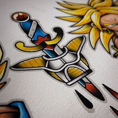 DBZ Tattoo Flash