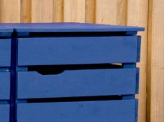 Mülltonnenbox Holz - Holzweise Garbage Can Shed, Garbage Containers, Furniture, Home Decor, Washing Bins, Hide Trash Cans, Projects, Blue, Lawn And Garden