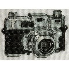 Cool Cross Stitch Pattern Vintage Retro Black and...