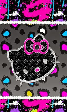 icandykreationz: Double Vision Kitty & Paint Splatter Kitty Wallpap...