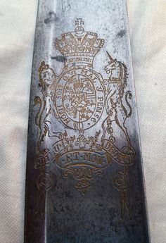 1796 Antique British Cavalry Sword Solingen Sabre American 1812 War Waterloo.SUPERIOR EXAMPLE ! PRE-1801 Bears the rare pre-1801 British Royal Coat of Arms. JJ RUNKEL SOLINGEN. NEVER PREVIOUSLY OFFERED FOR PUBLIC SALE. BEST ONE I'VE HAD FOR 10 YEARS ! 1796 p WITH INTERESTINGLY ENGRAVED. LARGEST BROAD,SLASHING BLADE. ALL STRONG AND FIRM.