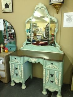 Vanity I Painted In Dixie Belle Paint Sea Gl Dropcloth
