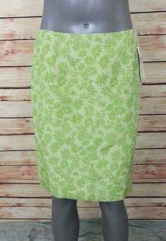NWT Valerie Stevens pencil skirt linen silk blend womens size 6 casual work #ValerieStevens #StraightPencil