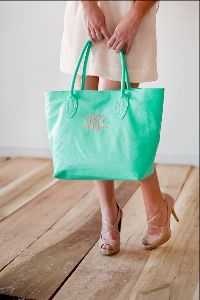 Your Child's Teacher can use this classy monogram tote as a purse or for all their school materials.