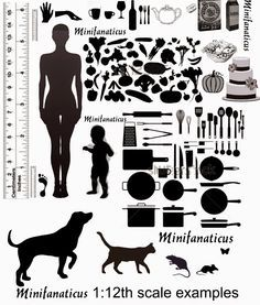 Very useful 1:12 scale guide printable from Jane at Minifanaticus.