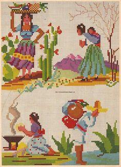 """cuadro bordado dibujado Puntada de Riolis set /""""Florecillas del abedul/"""""""