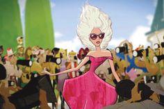 Lady Gaga  -  Barneys & Disney 'Electric Holiday'  Slideshow via WWD.com