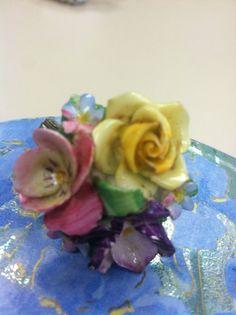 Vintage Porcelain Flower Brooch Coalport England in | eBay