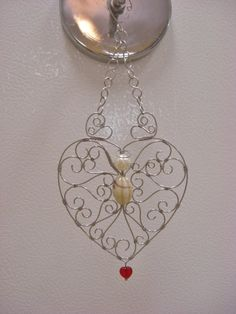 REERVED FOR DENISE:  Stainless steel filigree by 5DogsDesigns