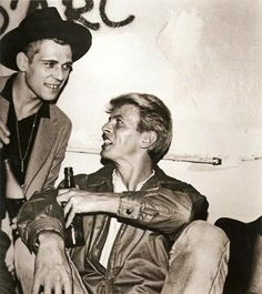 Paul Simonon and David Bowie