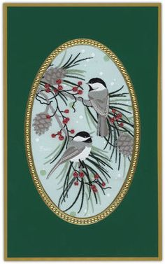 Sweet Chickadee Tapestry Holiday Cards