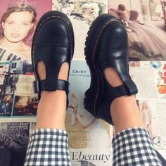 Dr. Martens bethan Mary Jane platform shoes Never worn! I am typically a size US9 but these were a full size too big for me. I believe it's safe to say (based off of reviews and personal experience) that these act as a U.S.10 Dr. Martens Shoes Platforms