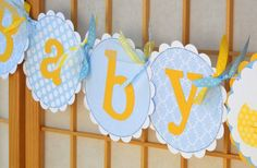 Baby Shower Banner  Rubber Ducky  Baby Boy by OneFantasticParty, $20.00