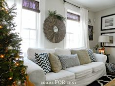 LOVE THIS WHOLE HOUSE... Pinecones, Mercury Glass & Greenery Christmas Tour {2013} from Rooms For Rent Blog