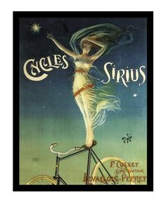 Celestial Cycles - Vintage Bicycle Poster