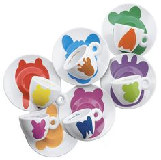An exhibition of 286 espresso coffee cups designed by well-known artists. Jeff Koons, 2001